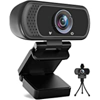 Avater HD Webcam 1080P with Microphone, PC Laptop Desktop USB Webcams 110-Degree Widescreen Web Camera with Rotatable…