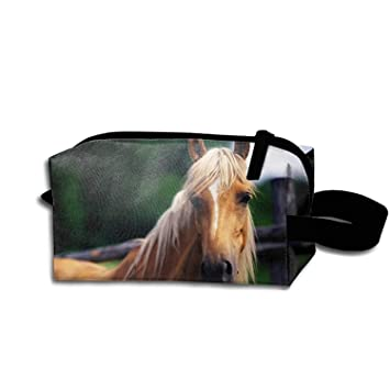 29ed85cf9c0d Amazon.com : Personalized Make Up Bag Customize Horse Cosmetic Pouch ...