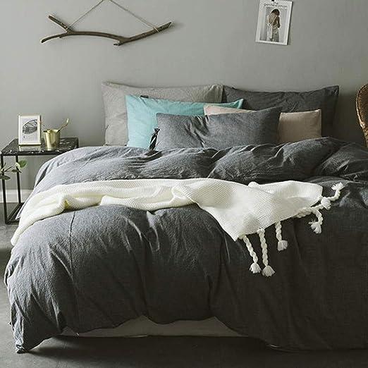 Algodón nórdico Algodón lavado Simple cama simple de cuatro piezas ...