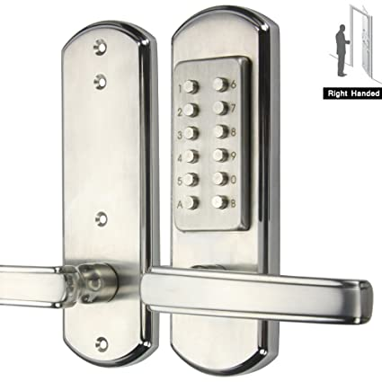 AcPulse Digital Push Button Combination Door Lock Entry Keypad Mechanical  Keyless 100% Stainless Steel 304