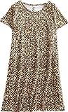 #5: Amoy-Baby Women's Cotton Nightgown Casual Nights Sleepwear Short Sleeves Print Sleepshirt
