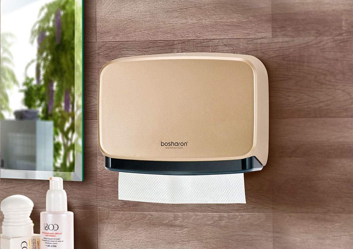 Multifold Trifold Paper Towel Dispenser Commercial and Home Use Bosharon Paper Towel Dispenser Wall Mount Bathroom Tissue Holder Black C Fold Paper Towel Dispenser