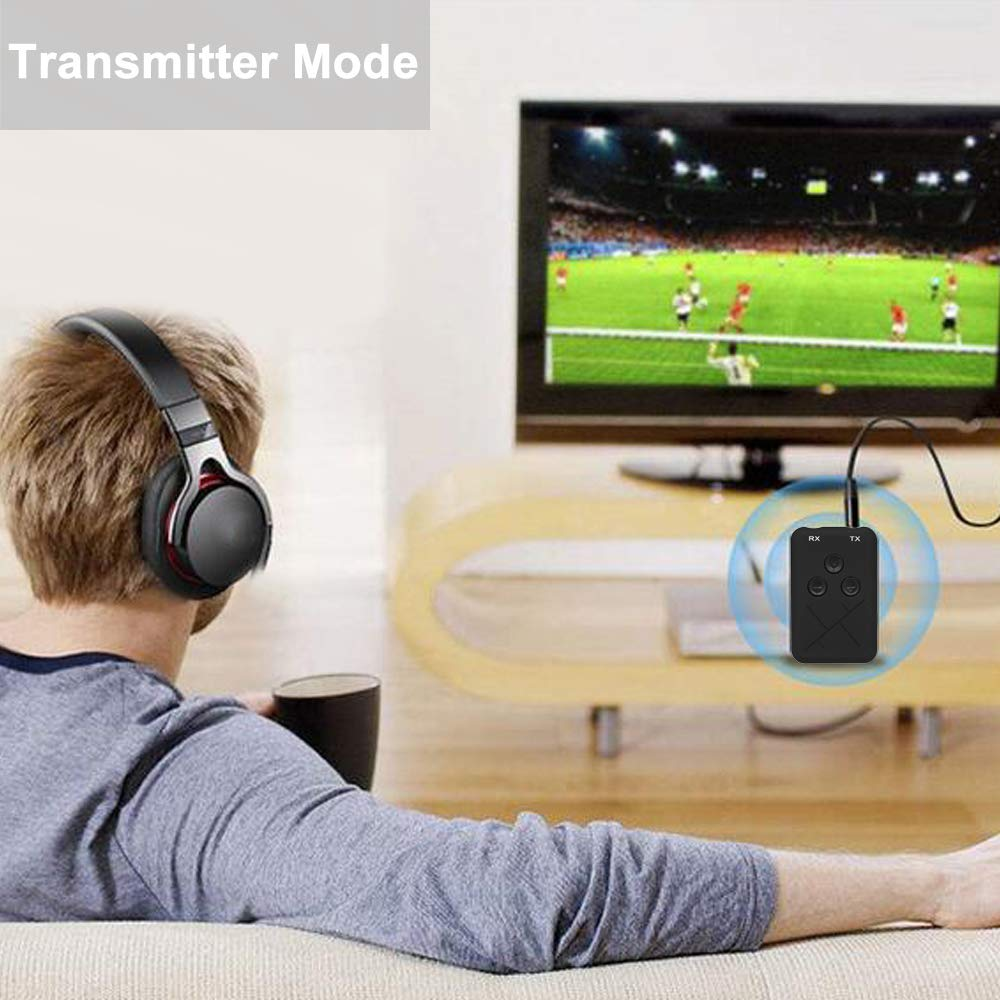 Festnight Bluetooth Audio Receiver Receiver Adattatore Musicale Adattatore Audio da 3,5 mm Senza Fili per Cuffie TV Coppia 2 contemporaneamente Compatibile con Android e iOS Smart Phone e Pad