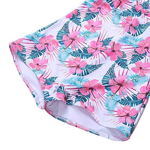 Bagno FeelinGirl Bikini Monokini Stile Rosa Fiore Donne Costumi Set Imbottito Obliquo Sexy Da 6wr6ZqFR8