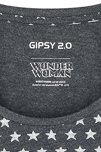 Wonder Woman Logo Camiseta Mujer Antracita mezclado Antracita mezclado