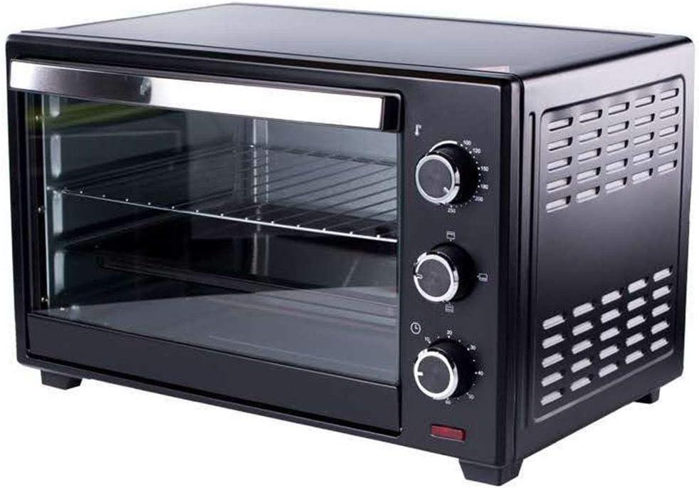 SUWEN Horno eléctrico de Cocina, Mini Horno de sobremesa, 1360 W, 20 litros, Temporizador Durante 60 Minutos, Temperatura Ajustable 100~250 ° C, Negro: Amazon.es