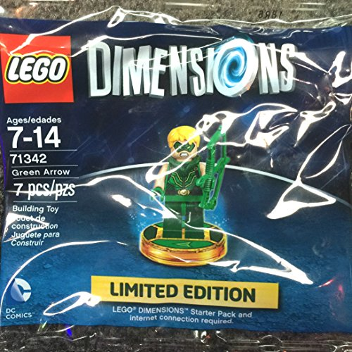 Lego Dimensions Green Arrow Limited Edition Minifigure With Video Game Piece