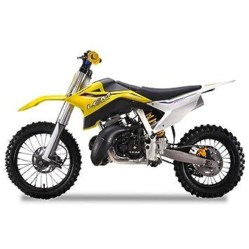 CRF70 Moto de Motocross 50 cc Lem Motor A14 Amarillo: Amazon.es: Coche y moto