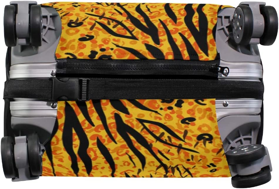 FANTAZIO Animal Tiger Yellow Skin Suitcase Protective Cover Luggage Cover