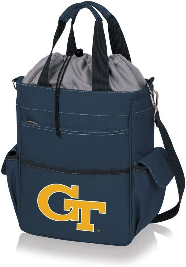 ONIVA Navy Blue with Gray Accents Activo Cooler Tote Bag, a Picnic Time brand Georgia Tech Yellow Jackets
