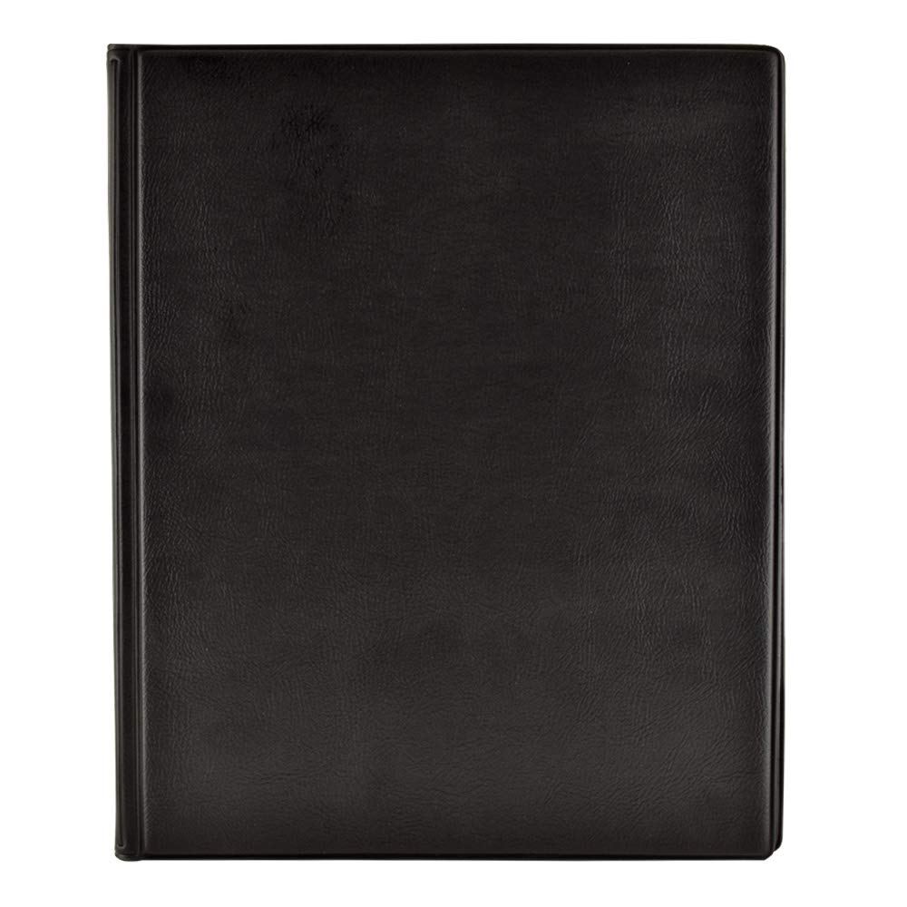 Prat Paris SP-10, Bound SP Presentation Book with Twelve 8x10'' Permanently Sealed Crystal Clear Pages, Cover Color: Black