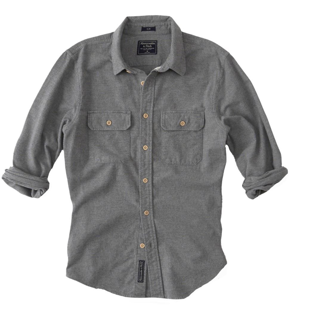 Abercrombie & Fitch - Camisa casual - Button Down - Básico - Manga ...
