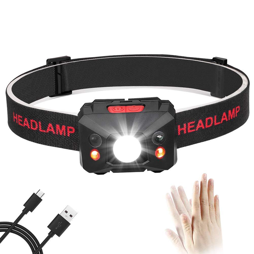 Eletorot LED Stirnlampe LED Kopflampe Stirnlampen USB Wiederaufladbare LED Kopflampen Kopfleuchten LED Headlight 6 Leuch.tmodi,Wasserdichte,Einstellbar,leicht und ultrahell,inklusive USB Kabel Geh/äuse