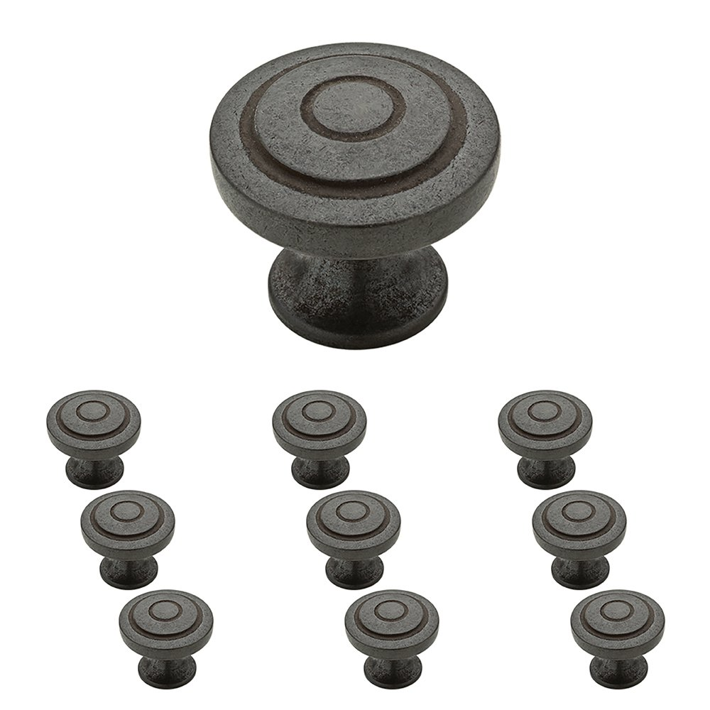Franklin Brass P29526K-SI-B Soft Iron 1-1/4-Inch, Geary Kitchen Cabinet Hardware Knob, 10 pack