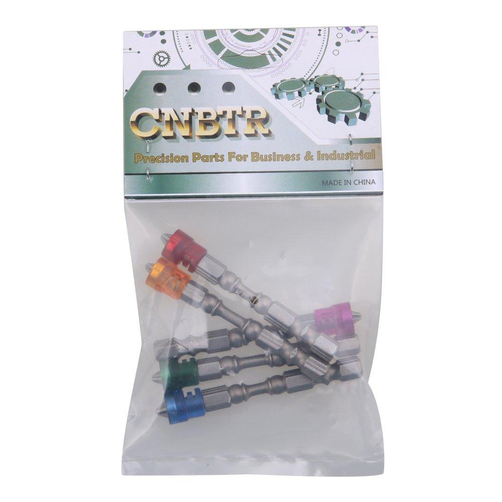 Cnbtr 1//10,2/cm S2/en acier chrom/é pour cloison s/èche magn/étique Embouts de tournevis PH2/Vis plaque de pl/âtre Embouts Tige hexagonale avec but/ée de profondeur /à 1/Lot de 5