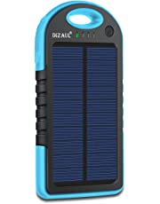 dizaul Solar Charger, 5000mAh Portable Solar Power Bank Waterproof/Shockproof/Dustproof Dual USB Battery Bank for Cell Phone,iPhone,Samsung,Android Phones,Windows Phones,GoPro Camera,GPS