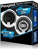 peugeot pioneer haut parleurs de voiture porti re avant 206 240 w high tech. Black Bedroom Furniture Sets. Home Design Ideas