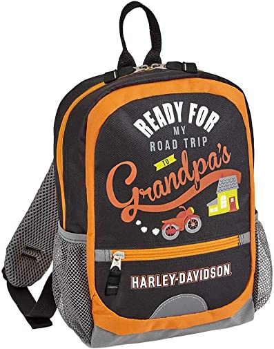 Harley-Davidson Kids Going to Grandpa's Mini Travel Backpack - 99842-BLACK