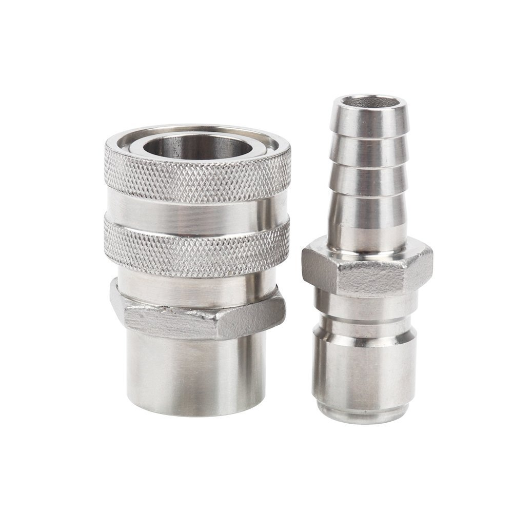 Stainless Steel Quick Disconnect Set(1/2'' barb+1/2'' FPT)
