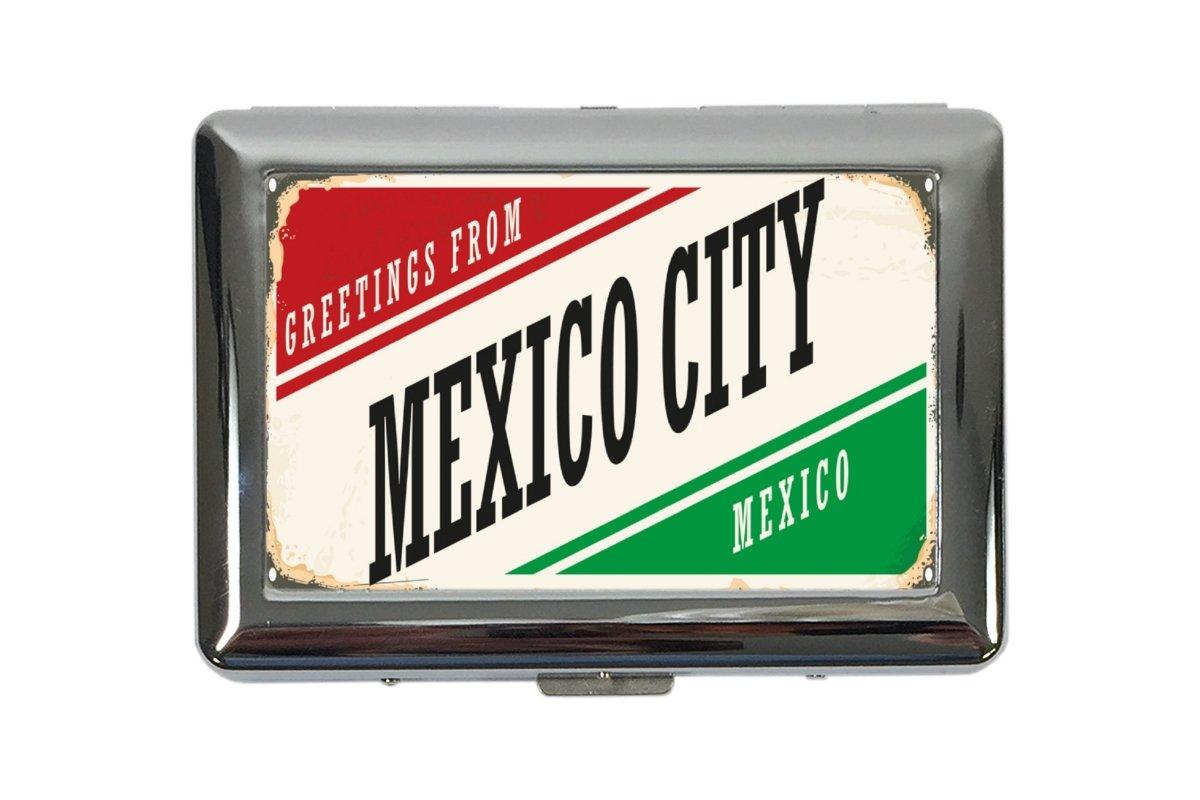 Zigarettenetui Box Reisen K/üche Mexiko City Bedruckt