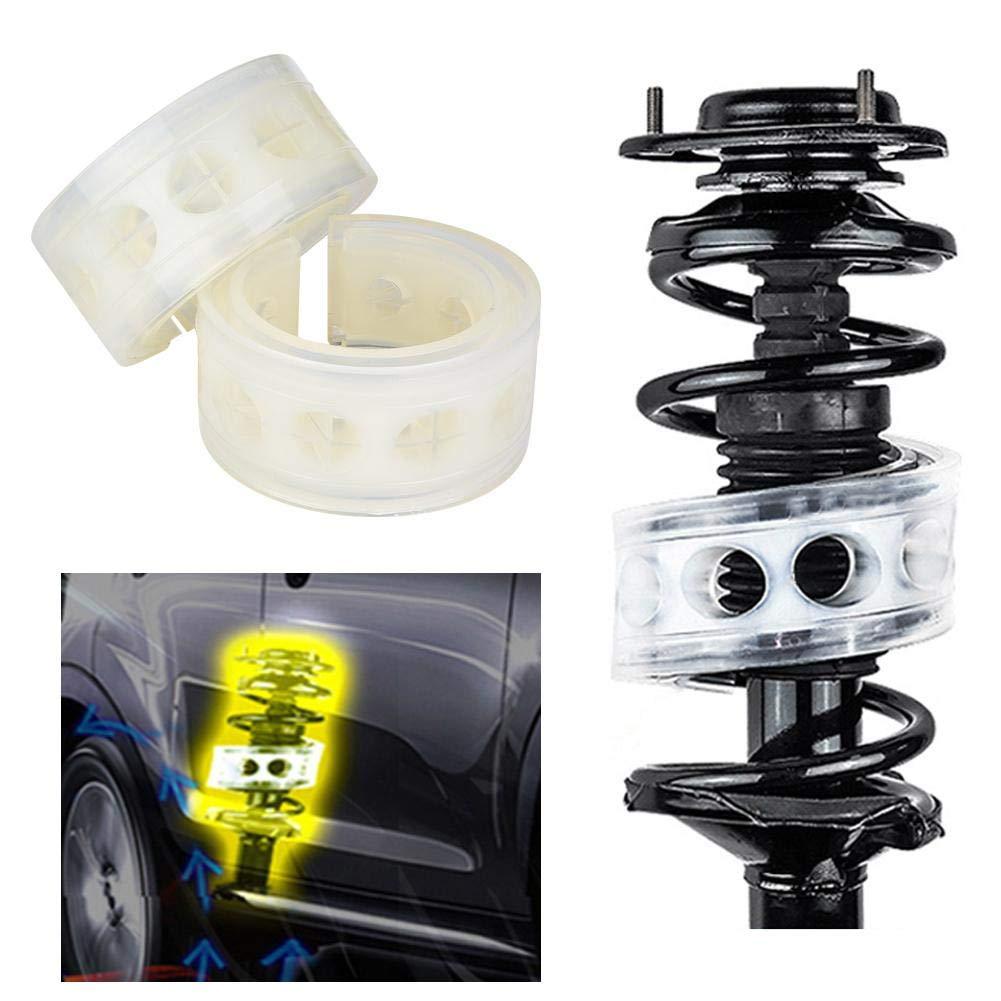 2pz Cuscino Paraurti Ammortizzatore per Molle Auto Trasparente TPU Tipo A-E Spring Buffer Cuscino di Alimentazione B