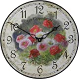 Roger Lascelles Poppies Wall Clock, 14.2-Inch For Sale