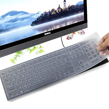 2ca10b0dbdd Keyboard Protector Skin for Dell KM636 Wireless Keyboard & Dell KB216 Wired  Keyboard, Clear: Amazon.co.uk: Computers & Accessories