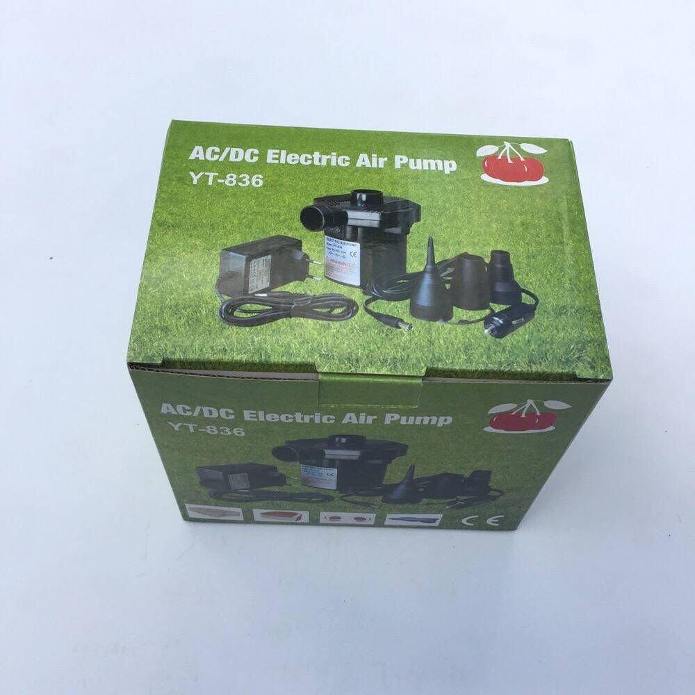 Elektropumpe Power Pump mit 3 Luftd/üse f/ür aufblasbare Matratze Boot Colomba Elektrische Luftpumpe Kissen Bett Schwimmring,Camping DC12V und AC220V