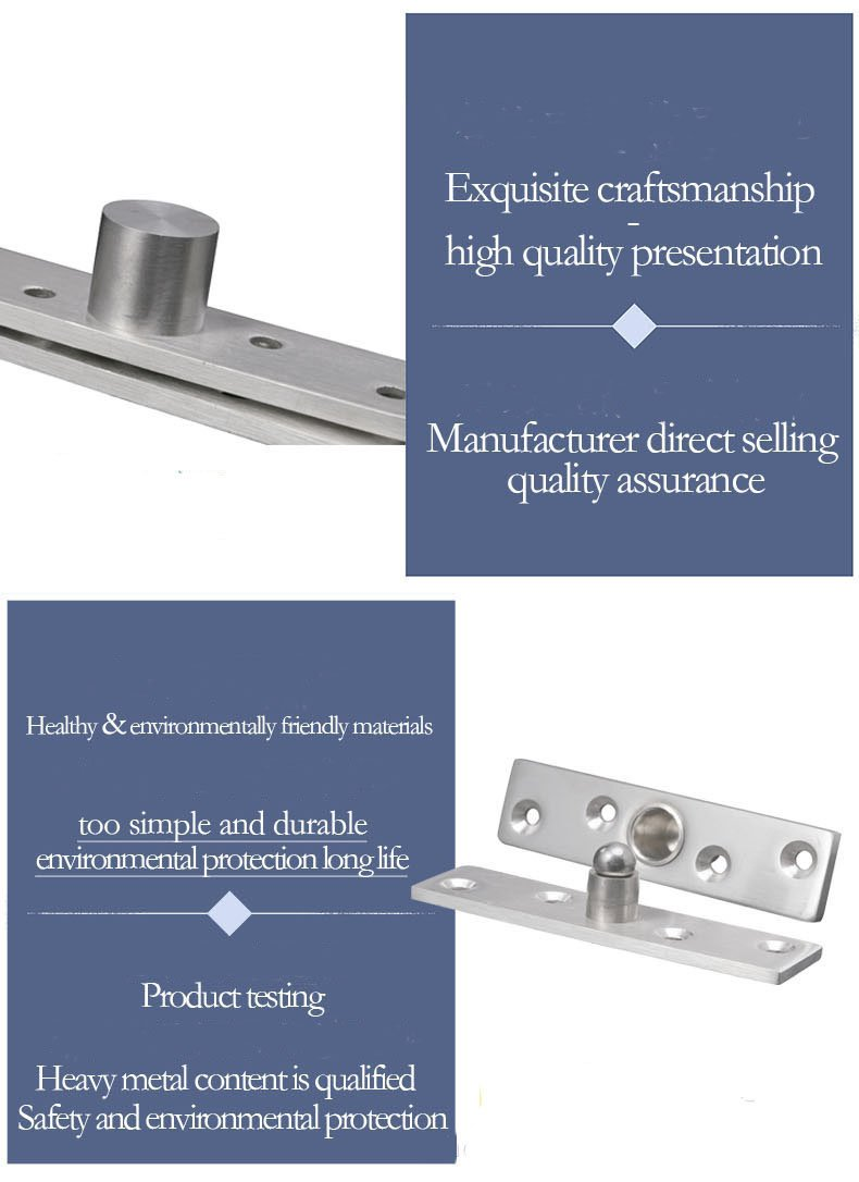 KFZ Solid Stainless Steel Hinges - Upper and Lower Hinges - Positioning Door Hinge JD-DJPF11 360 Degree Rotating Hardware Accessories (5,Central Axis in The middile-S)