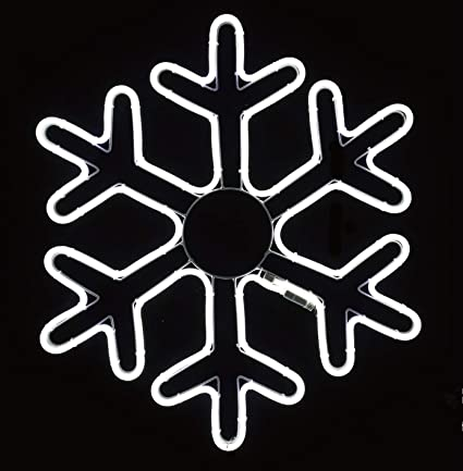 NEW! American Lighting brand Christmas PVC rope sculpture SNOWFLAKE LED 18x18in