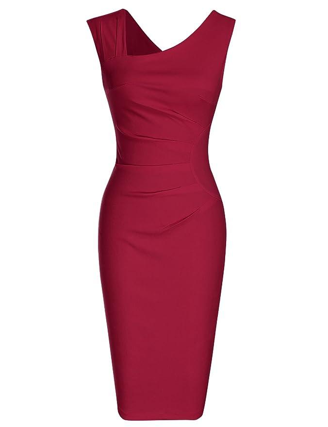 Review MUXXN Women's Retro 1950s Style Sleeveless Slim Business Pencil Dress