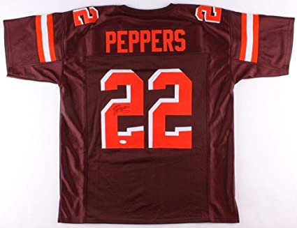 newest 07a40 6963e Jabrill Peppers Autographed Signed Browns Jersey Memorabilia ...