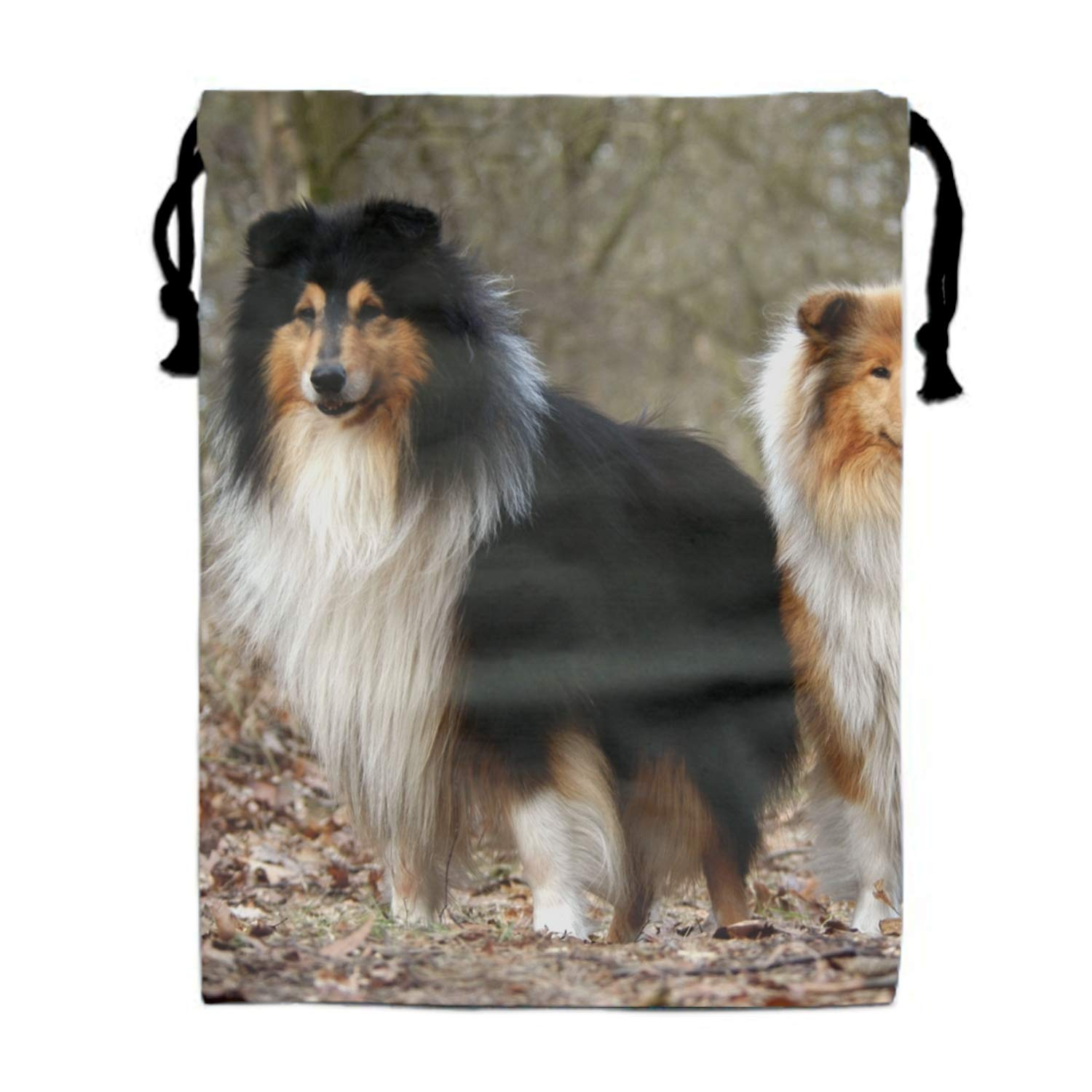 Forest Shelties Bags Candy Bags Drawstring Gift Sack Bag 11.8 /× 15.7