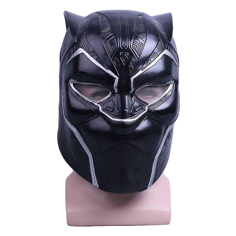 nero Panther PVC Full Head Mask Casco Cosplay Maschere di Travestimento per Masquerade Halloween Party Mardi Gras,nero-OneDimensione