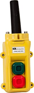 product image for KH Industries CPH02-B00-000A 2 Push Buttons Pendant Control Switch, Maintained On/Off