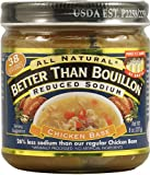 Better Than Bouillon Reduced Sodium Chicken Base -- 8 oz - 2 pc
