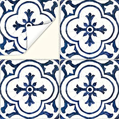SnazzyDecal Tile Stickers Dutch Antique 4x4in Peel and Stick for Kitchen and Bath BW002-4