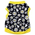 LOVELYIVA New Fashion Flowers Cotton Jersey Vest Pet Clothing Small Dog Cat Pet T Shirt