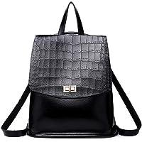 Aiweijia Bolso bandolera antirrobo de textura de moda para mujer Mochila con cremallera de gran capacidad para ir de compras mochila de trabajo Estudiante ligero Correas ajustables para mujeres