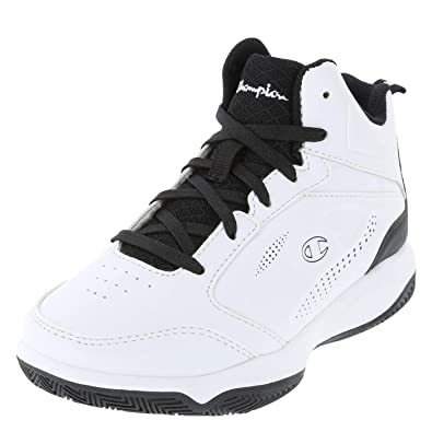 f3248e6023a7 Champion White Black Boys  Contender Basketball Shoe 1.5 Regular