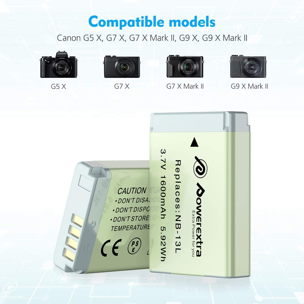 Powerextra 2 X Nb 13l Ersatz Akku Und Elektronik