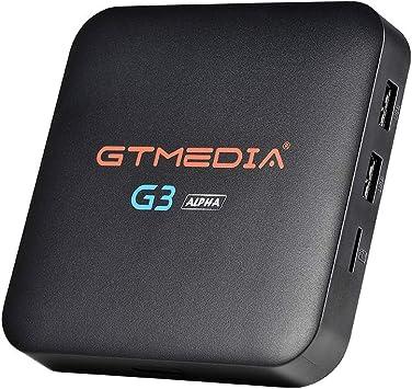 GT MEDIA G3 Alpha 4K Android TV Box 7.1.2, Wi-Fi 2.4Ghz / 5Ghz BT 4.0 Amlogic S905X Quad-Core 2GB RAM+16GB ROM 3D H.265 HEVC MPEG-2/4 Smart TV Box: Amazon.es: Electrónica