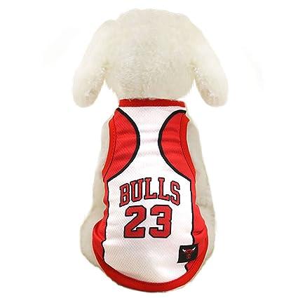 e3a63d9c0b0d Dog Clothes NBA Basketball T-shirt Dogs Costume Jersey for Cat Dog Pet Bulls  (