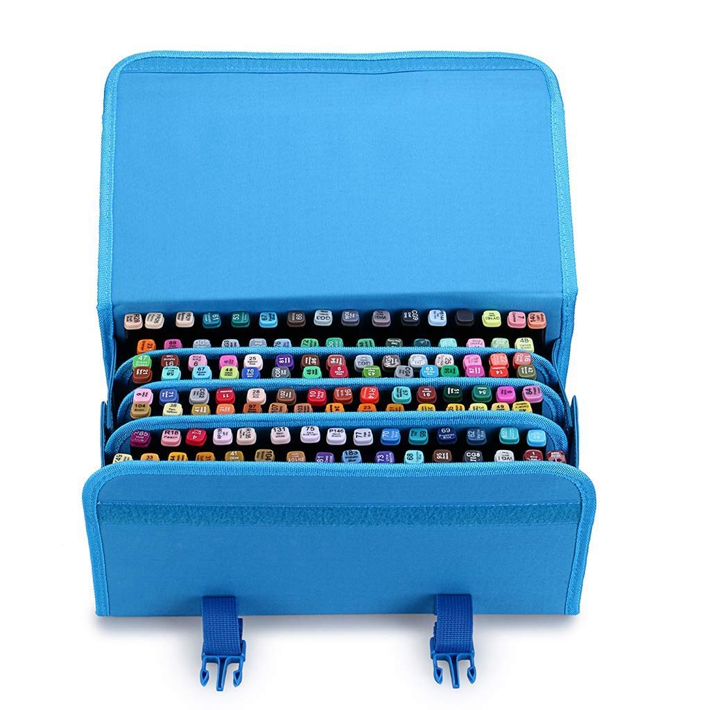 TOOGOO Marker 120 Holders Organizer Case Storage So On Fits from 15Mm to 22Mm Diameter Blue by TOOGOO (Image #3)