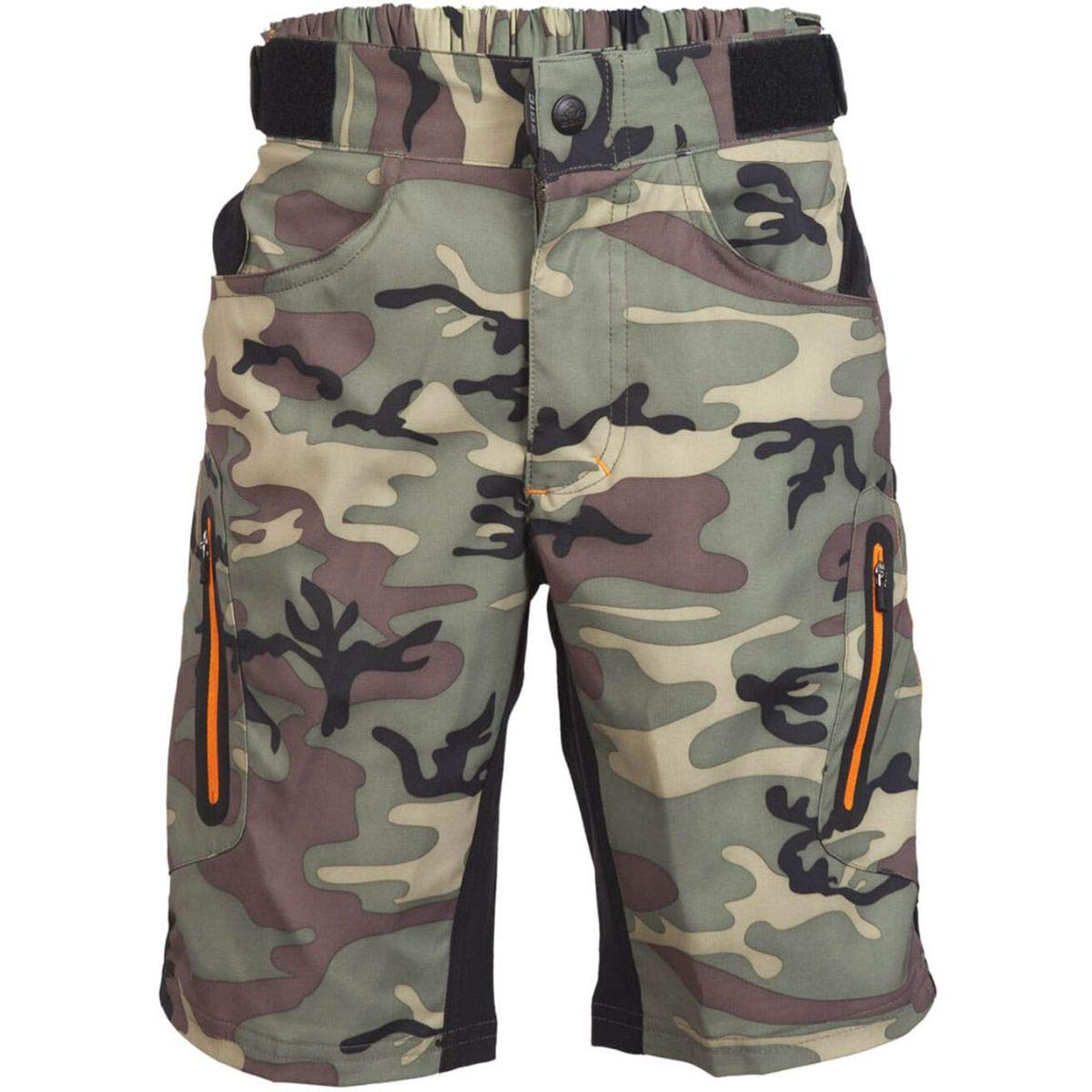 ZOIC Boy's Ether Jr. Shorts, Green Camo, Large