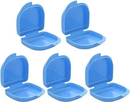Healifty 5 Piezas Caja de Dentadura Estuche Funda para Dentaduras Protesis Dental (azul): Amazon.es: Salud y cuidado personal