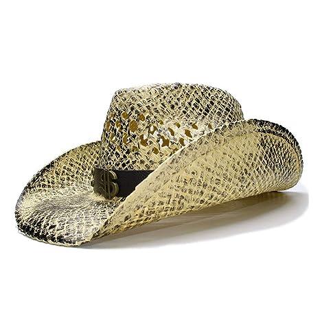 USPANDI Retro Mujeres Hombres Verano Paja Sol Sombrero de Playa ...