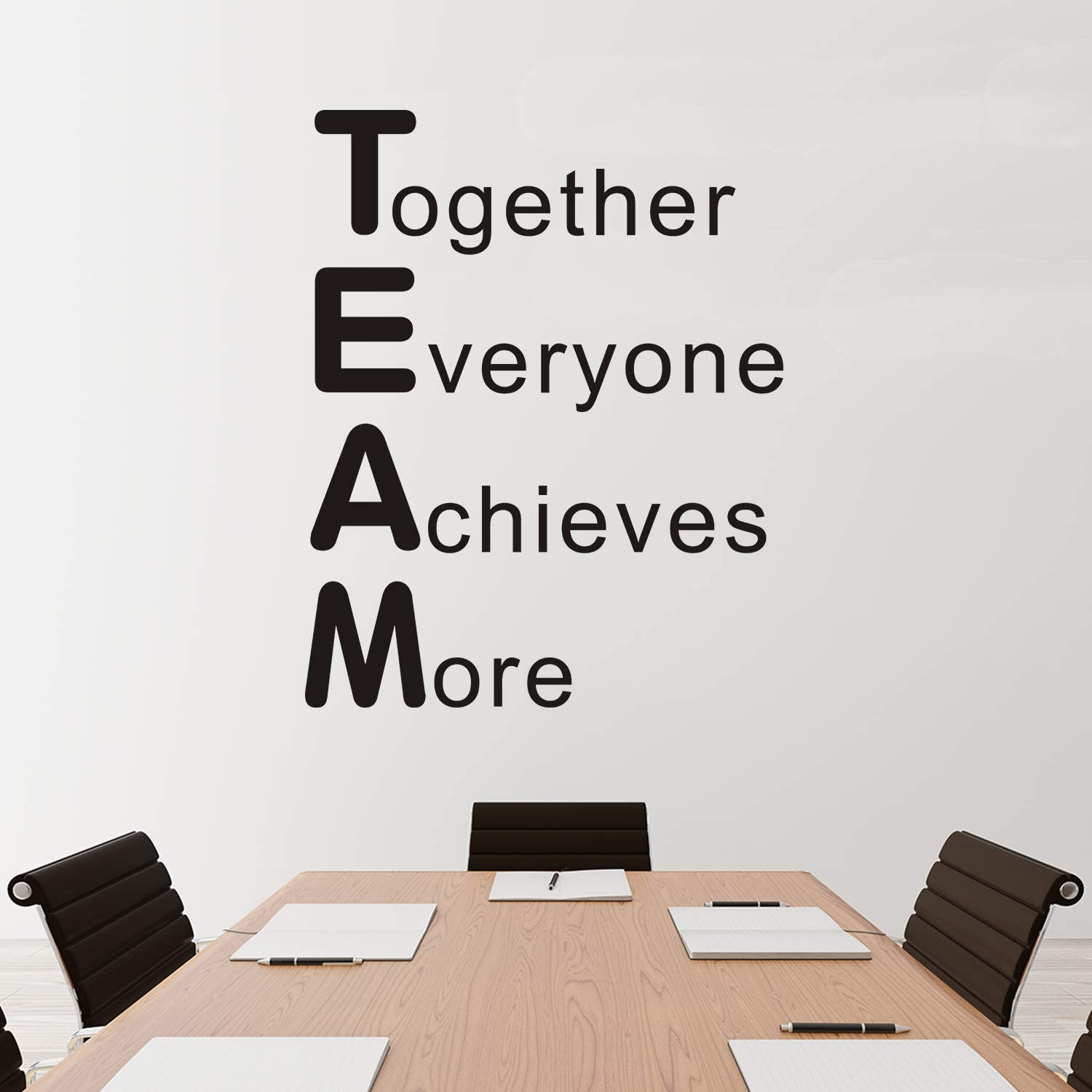 """VODOE Motivational Wall Decals, Office Wall Decals, Inspirational Quotes Teamwork Nursery Classroom Playroom Dorm Family Bedroom Art Home Decor Vinyl Stickers Together Everyone Achieves More 21""""x26.2"""""""