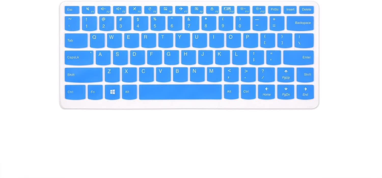 "Leze - Ultra Thin Keyboard Cover Skin for Lenovo Yoga 710 14"",Yoga 710 15.6"",Yoga 910 14"",Flex 4 14"",ideapad 510s 14"" Laptop - Blue"