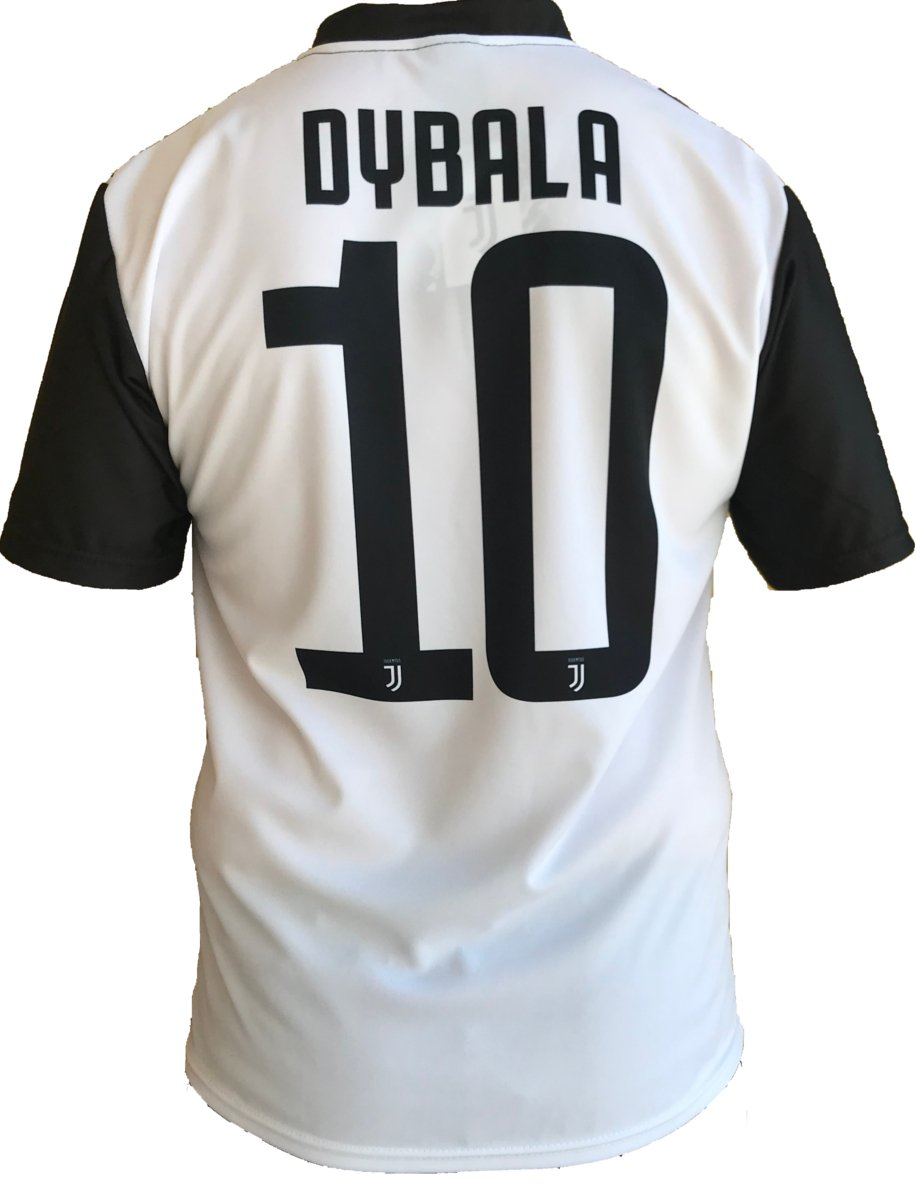 a50b9c0c3 JUVENTUS F. C. Perseo Trade S.R.L. JUVENTUS Jersey Paulo Dybala 10 Replica  Authorized 2018-2019 Child (plus-years 2 4 6 8 10 12) Adult (S M L XL)  ...